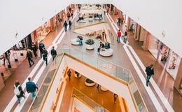 Shopping mall Galeria. Russia. Saint-Petersburg June 2017. Royalty Free Stock Photo