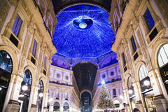 Shopping mall The Galleria Vittorio Emanuele II Royalty Free Stock Photo
