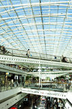Shopping Mall with Glass Ceiling Stock Photo