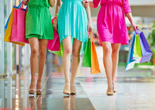 Shopping in the mall Royalty Free Stock Photos