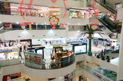 Shopping mall in guangzhou Royalty Free Stock Image