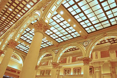 Shopping Mall Hall Square in The Venetian Macao. With Pictures Hanging Stock Photos