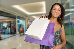 Shopping at the mall Royalty Free Stock Image