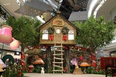 Shopping mall at hk 2016 xmas Royalty Free Stock Images