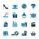 Shopping and mall icons Stock Photography