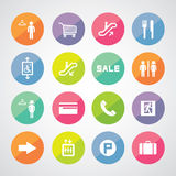 Shopping mall icons Stock Photos