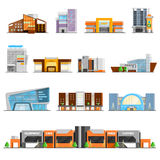 Shopping Mall Icons Set Royalty Free Stock Image