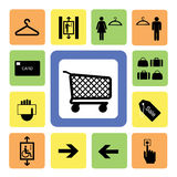 Shopping mall icons set 2 Royalty Free Stock Photography