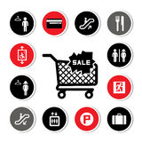 Shopping mall icons Royalty Free Stock Photos