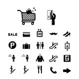 Shopping mall icons set Royalty Free Stock Photo