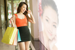 Shopping in the mall Stock Photography