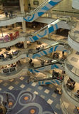 Shopping mall interior. Main lobby, general view. Faces blurred Royalty Free Stock Photos