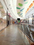 Shopping Mall Interior. Baneasa Mall is one of the biggest shopping malls from Bucharest, Romania Royalty Free Stock Images