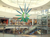 Shopping Mall Interior. Baneasa Mall is one of the biggest shopping malls from Bucharest, Romania Stock Photos