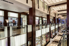 Shopping mall. Interior of a shopping mall Vegas in Moscow, Russia Royalty Free Stock Photo