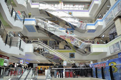 Shopping mall interior, wuhan china Royalty Free Stock Photo