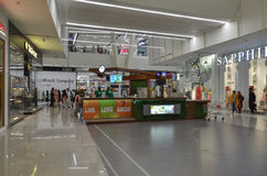 Shopping Mall Interiors. People Shopping at Emporium Mall, Lahore, Pakistan Royalty Free Stock Photos