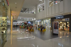 Shopping Mall Interiors. People Shopping at Emporium Mall, Lahore, Pakistan Stock Photo