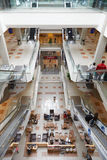 Shopping mall interiors with people in middle east Stock Images