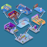 Shopping Mall Isometric Concept Royalty Free Stock Image