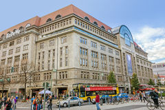 Shopping Mall KaDeWe - Kaufhaus des Westens, Berlin. Berlin, Germany - October 27, 2013: Famous shopping mall KaDeWe - it offers goods at an upper price range Royalty Free Stock Images