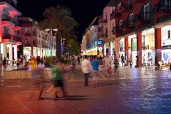Shopping mall in Kemer. Main pedestrian street and shopping mall of mediterranean resort town Kemer, Turkey Stock Photos