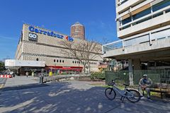 The shopping mall of La Part-Dieu. LYON, FRANCE, March 22, 2018 : The shopping mall in La Part-Dieu. The district is the central business district of Lyon and Royalty Free Stock Photos