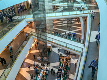 Shopping mall levels Stock Images