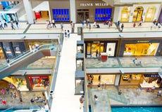 Shopping mall Marina Bay Singapore Stock Image