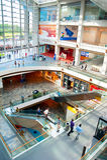 Shopping mall at Marina Bay Stock Photos