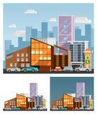Shopping Mall Orthogonal Compositions Royalty Free Stock Images