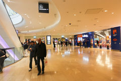 Shopping Mall at Paris. April. 20 2015 Tourists enjoy in mall at Port of Paris, France Stock Photo