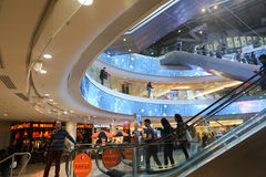 Shopping Mall at Paris. Peoples enjoy Shopping Mall at Paris, France Royalty Free Stock Photos