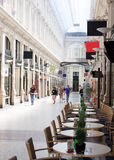 Shopping Mall, The Passage, Netherlands. Indoor Shopping Mall mixed with Apartments in The Hague royalty free stock images
