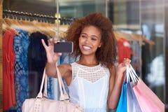 Shopping mall selfie Stock Photos