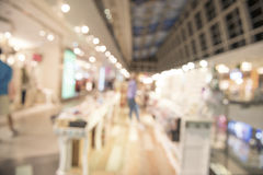 Shopping mall, shallow depth of focus. Royalty Free Stock Photography