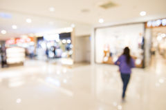 Shopping mall, shallow depth of focus. Stock Photography