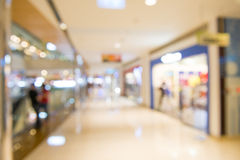 Shopping mall, shallow depth of focus. Royalty Free Stock Images