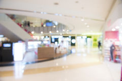 Shopping mall, shallow depth of focus. Stock Photo