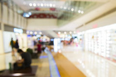 Shopping mall, shallow depth of focus. Stock Image