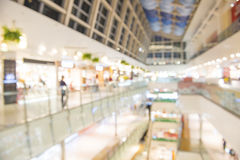 Shopping mall, shallow depth of focus. Royalty Free Stock Photo