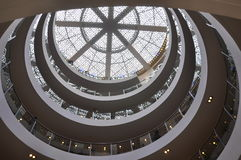 Shopping mall in Shanghai. It's a shopping mall in Shanghai, China. It's the view from bottom of the building Stock Image
