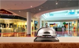 Shopping mall. Store shopping retail floor marble empty Royalty Free Stock Images