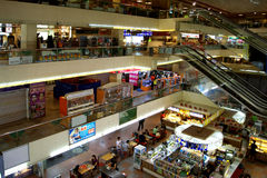 Shopping mall, Singapore Stock Images