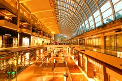 Shopping mall in Singapore . MBS. The internal Shopping mall in the Marina Bay Sands Integrated Resort , Singapore Royalty Free Stock Image