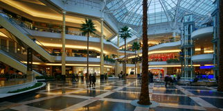 Shopping Mall. The Somerset Collection shopping mall of Troy, Michigan, with its 180 stores and annual sales of approximately $ 600 million, is not only one of Royalty Free Stock Photography