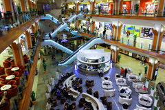 Shopping mall. Stores inside Iulius Mall Timisoara, one of the largest malls in eastern Europe, before black friday Royalty Free Stock Photography