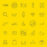 Shopping mall thin line icons. Vector and illustration Royalty Free Stock Photos