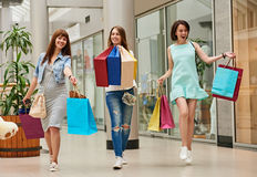 Shopping at the mall Royalty Free Stock Photo