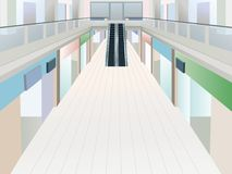 Shopping mall with two floors Stock Image